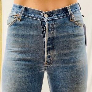 """Re/Done Levi 501 Ultra High Rise 13"""" Med Wash 27"""